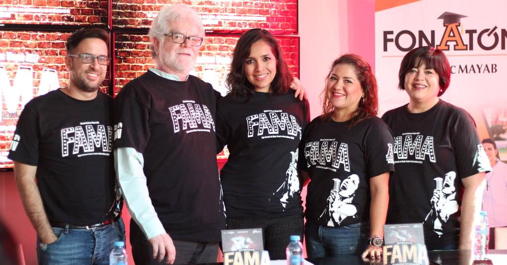 Conferencia de prensa para presentar el musical FAMA